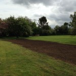 Grass seeding completion.
