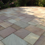 "Completed works: Raj Green blocks with Natural ""Ripon"" Sandstone"